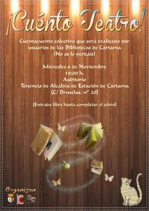 Cartel Cuénto Teatro Bibliotecas Cártama